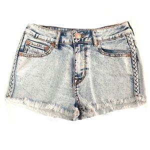 Kendall & Kylie•high rise acid wash shorts 3